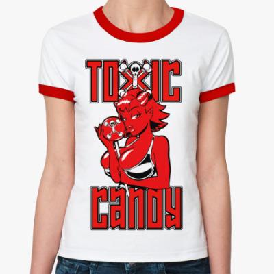 Женская футболка Ringer-T Toxic