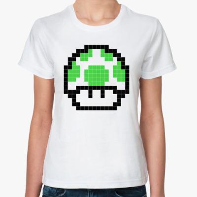 Классическая футболка 'Грибок 1 up'