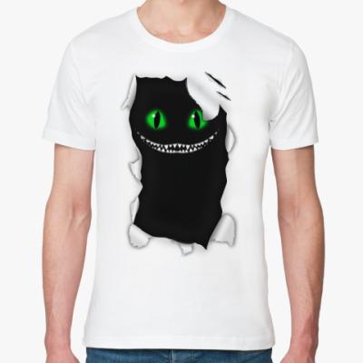 Футболка из органик-хлопка Чеширский кот