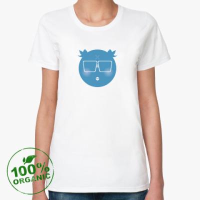 Женская футболка из органик-хлопка  «Сижу в твиттере»