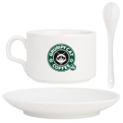 Кофейный набор Grumpy Cat coffee!