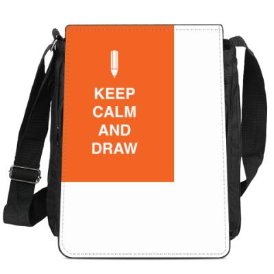 Сумка-планшет Keep calm and draw