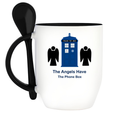 Кружка с ложкой Doctor Who