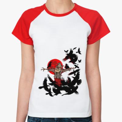 Женская футболка реглан Пугало  Ж()