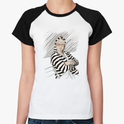 Женская футболка реглан Автопортрет