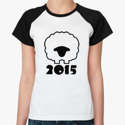 Женская футболка реглан Год козы(овцы) 2015