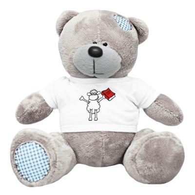 Плюшевый мишка Тедди Овца - С новым годом !