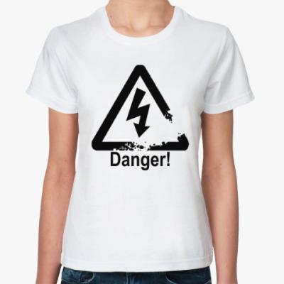 Классическая футболка Danger - Опасность