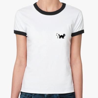 Женская футболка Ringer-T BlackCAT