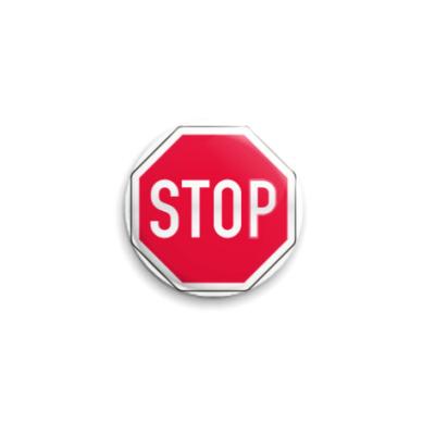 Значок 25мм  STOP