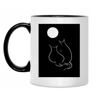 Кружка Кот и кошка