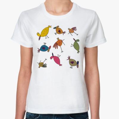Классическая футболка 'Птицы'