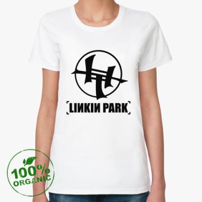 Женская футболка из органик-хлопка Linkin Park