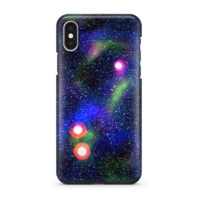 Чехол для iPhone X звёздное небо
