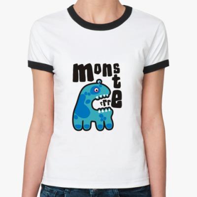 Женская футболка Ringer-T  Monsters