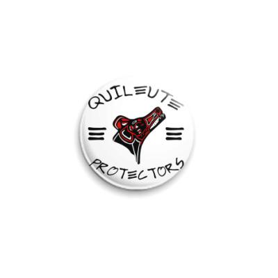Значок 25мм Quileute Pr  25 мм