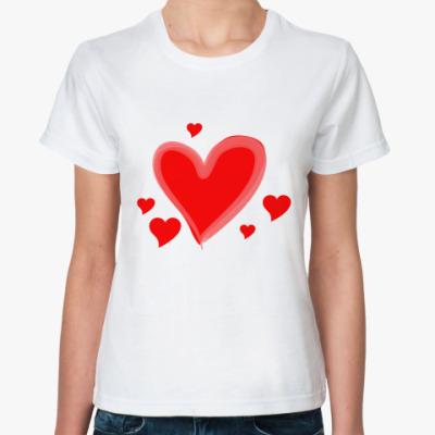 Классическая футболка Сердца