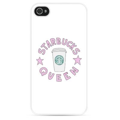 Чехол для iPhone starbuks queen
