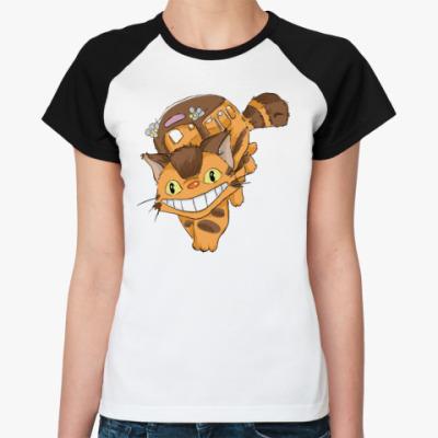 Женская футболка реглан Котобус