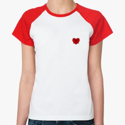 Женская футболка реглан No love