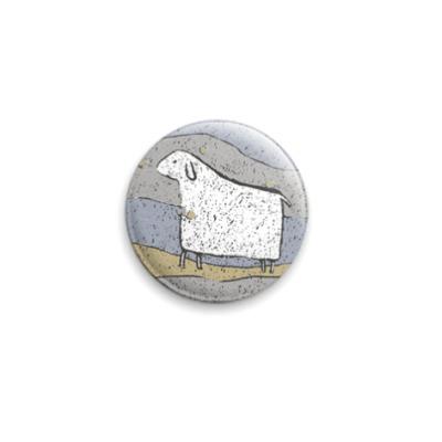 Значок 25мм овца