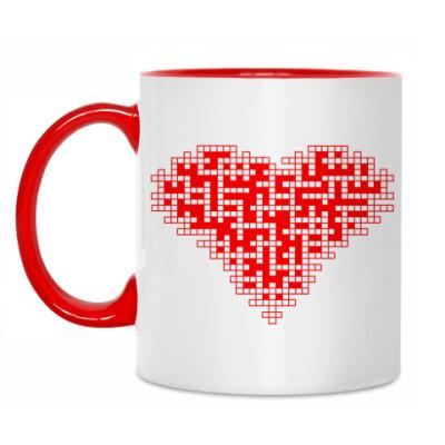 Кружка Сердце-кроссворд