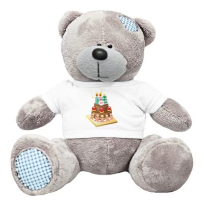 Плюшевый мишка Тедди Рождественский торт
