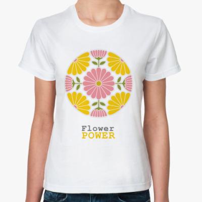 Классическая футболка  Flower power