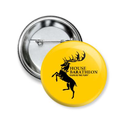 Значок 50мм House Baratheon