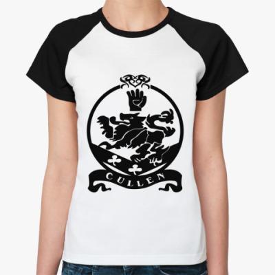Женская футболка реглан Cullen emblem