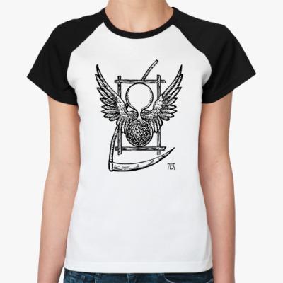 Женская футболка реглан ``Символ Времени Дюрера``