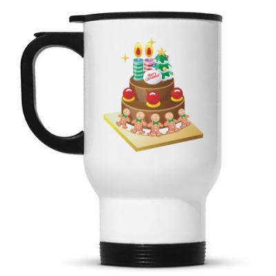 Кружка-термос Рождественский торт