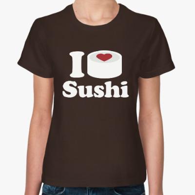 Женская футболка Love Sushi