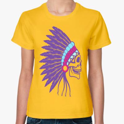 Женская футболка Индеец