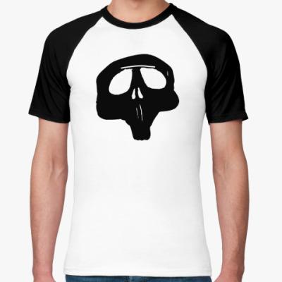 Футболка реглан Black skull