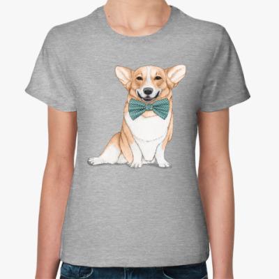 Женская футболка Весёлая собака