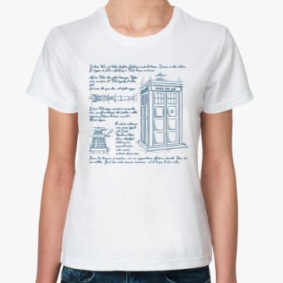 Классическая футболка Схема Тардиса