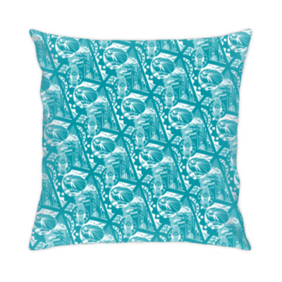 Подушка «Промышленность», агитационный текстиль