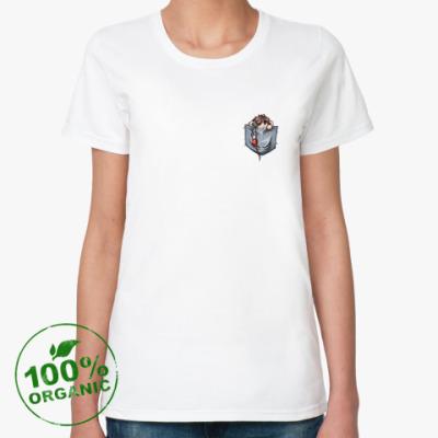 Женская футболка из органик-хлопка (ж) Морти