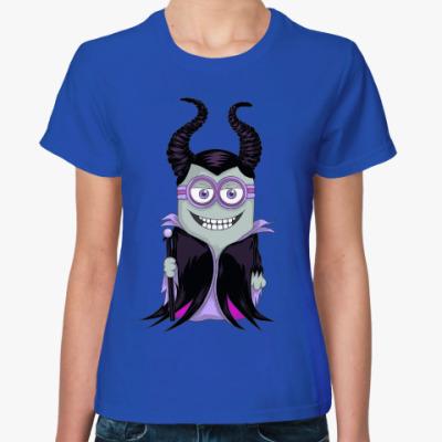 Женская футболка Миньон Малефисента