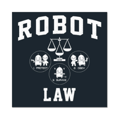 Наклейка (стикер) Robot Law