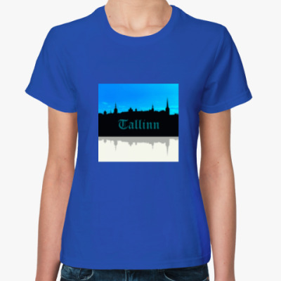Женская футболка Таллинн - столица Эстонии