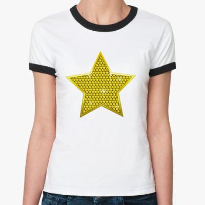 Женская футболка Ringer-T Star