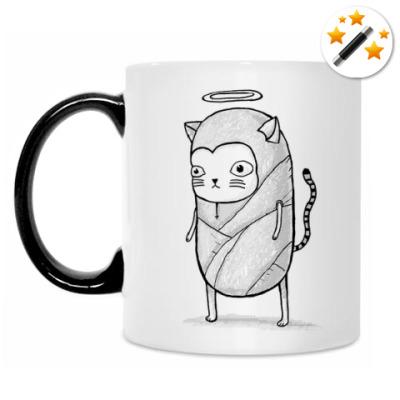 Кружка-хамелеон Святой котик