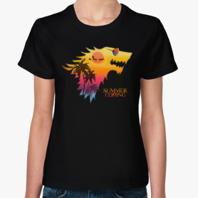 Женская футболка Лето Близко