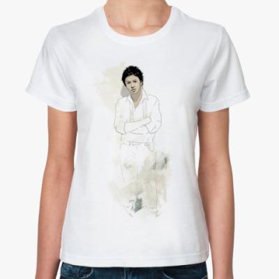 Классическая футболка Ж.футболка (б) Тома (стена)