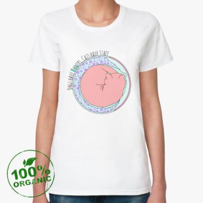 Женская футболка из органик-хлопка вся правда о котэ