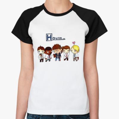 Женская футболка реглан House mult  Ж()
