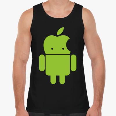 Майка Андроид голова-яблоко