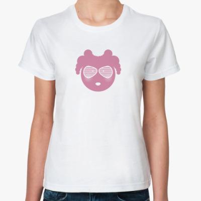 Классическая футболка  «Кру c очками жалюзи»